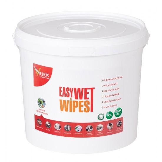 Vebox Easy Wet Wipes Hijyenik Kova Mendil (500 Adet)