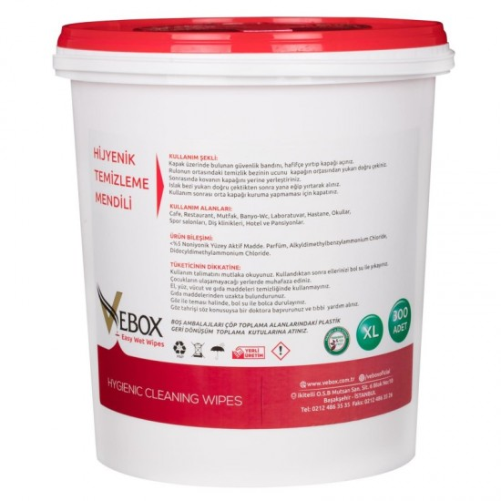 Vebox Easy Wet Wipes Hijyenik Kova Mendil (300 Adet)